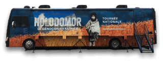 Photo of the Holodomor National Awareness Tour Bus.