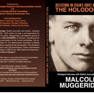 Reflection on Stalin's Soviet Regime and The Holodomor (DVD cover art)